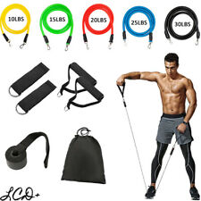 11 PCS Resistance Bands Set Yoga Abs Exercise Fitness Tube Workout /Jump Rope