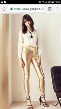 patrizia pepe pantalone ecopelle taglia 42 - s colore oro