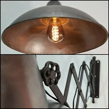 XL Industrie Wandlampe leuchte zuglampe Scherenarm Antik werkstatt Retro Kaiser