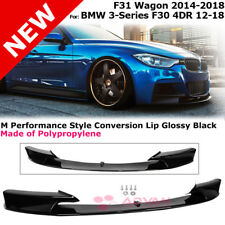MP Style Front Lip Spoiler 3 Series Sedan 12-18 Wagon 14-18 F30 BMW Black Glossy
