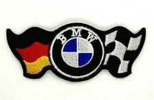 BMW German Checkered flag Embroidered Badge Appliques Iron Sew on Patch Logo 339