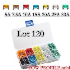 Lots120 (5 7.5 10 15 20 25 30) Amp Fuses –Automotive Fuse - LOW PROFILE Mini,ATM