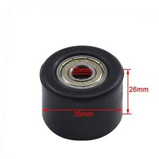 Black 10mm Chain Pulley Roller Tensioner For Motorized Pit Dirt Bike Motorcycle