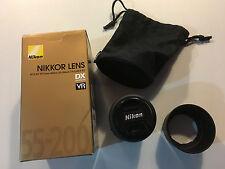 Nikon AF-S DX VR Zoom-Nikkor 55-200mm f/4-5.6G IF-ED Lens Great Condition w/box