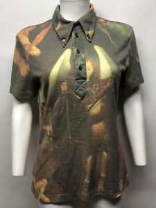 Rare Vtg Alexander McQueen 'It's A Jungle Out There' AW1997 Green Painting Shirt