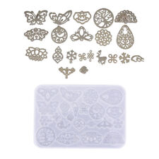 Vintage Hollow Earrings Pendant Diy Tool Silicone Mold Resin Jewelry Making M4