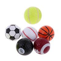 Ensemble de 6 Sports Nouveauté Balles de Golf Tour Nouveauté Cadeau Fun