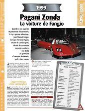 FICHE TECHNIQUE VOITURE PAGANI ZONDA 1999 VÉHICULE COLLECTION AUTO