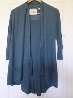 Angel of the North Anthropologie Linen blend tiered back open cardigan Sz XS