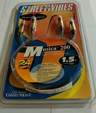 Vintage Streetwires Musica 200 RCA Audio Interconnects 1.5 FT, 2 Channel 24K