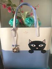 NWT Authentic Kate Spade Litle Len Jazz Things Up Peeking Cat Shopper Tote Bag