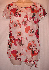 George Cap Sleeve Floral Other Women's Tops