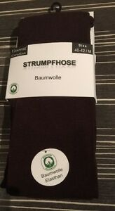 Damen Strick-Strumpfhosen/Baumwolle/VCA/Anthrazit /gr-S-36-38