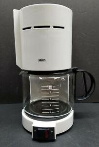 Braun Aromaster 10 Cup Coffee Maker Type 4085 KF 400 White