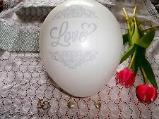 Luftballons LOVE Just Married  Weiß Silber Hochzeit Party Deko Kleinmengen