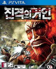 Attack On Titans (2015, PS Vita) Korean Edition / Package