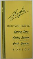 Vintage Restaurant Menu Slagle's Old South Building Boston Massachusetts 1940