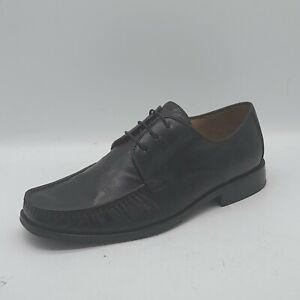 Men's CLARKS Size 9 UK Black Leather Dress Shoes Laced.  Work/School In E U C