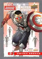 CAPTAIN AMERICA / 2016 MARVEL ANNUAL (Upper Deck 2017) BASE Trading Card #62