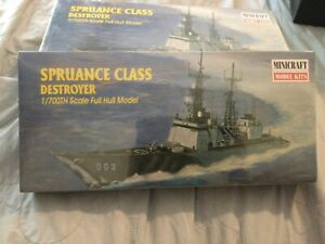 Minicraft Spruance Class Destroyer 1/700th Scale Full Hull Model Kit New Sealed