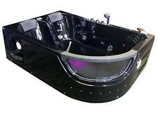 Whirlpool bathtub hydrotherapy black hot tub double pump PEGASO 2 two persons