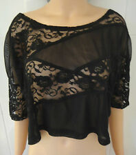 H&M Lace Crew Neck Party Tops & Shirts for Women