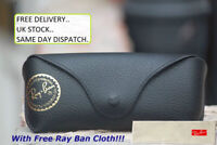 New Ray Ban Black Sunglasses Case With Free Ray Ban Cloth