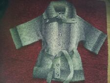 Brown flecked knitted cardigan/ jacket size 10