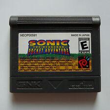 Neo Geo Pocket Color Sonic the Hedgehog Pocket Adventure Game Region Free -- New