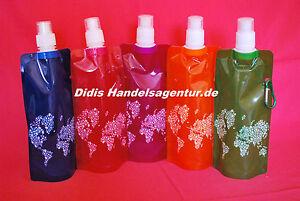 Faltbare Flexible Trinkflasche Wasserflasche Sportflasche Farradflasche  ca.0,5l