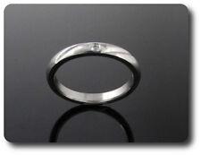 anello da uomo acciaio + 1x2 mm DIAMANTE CZ taglia 58