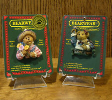 Boyds Bearwear 2 MOTHER'S DAY Pins; IMA MOM w/ SWEET PEA; MOMMA BUNCHALOVE