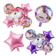 3D Set Unicorn Foil Balloons Kids Birthday Party Wedding Baby Shower Supplies