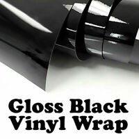 Car Black Vinyl Wrap Stickers Decal With Air Bubble Free Protective Glossy Film