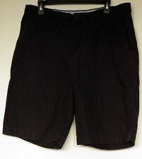 Tommy Hilfiger Dark Gray Cotton Twill Casual Chino Shorts 36