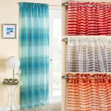 Polyester Striped Window Curtains