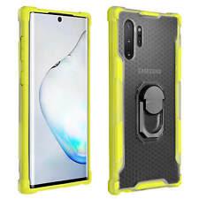 Carcasa Samsung Galaxy Note 10 Plus Bumper y anillosoporte magnético - Amarillo