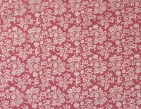 ROSE PINK WITH A PRETTY CREAM ROSE DESIGN -  100%COTTON FABRIC FQ'S