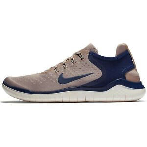 NIKE FREE RN 2018 Running Trainers Gym Casual - UK Size 13 (EUR 48.5) Taupe Blue
