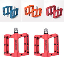 Mountain Bike Pedals Wide Nylon Pedals Bearing MTB Bicycle Falt Platform 9/16""