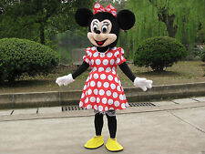 Minnie Mouse Mascot Costume Adult Fancy Dress Halloween Disney
