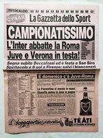 GAZZETTA DELLO SPORT 28-11-1983 INTER-ROMA 1-0 VERONA-AVELLINO 3-0 LAZIO COMO