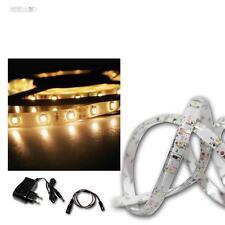 LED Lichtband Set 2,4m warmweiß, SMD-Streifen + Trafo, flex Lichtleiste STRIPE