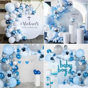 Blue Balloon Arch Garland Kit Baby Shower Wedding Birthday Party Backdrop Decor