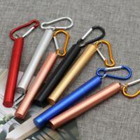 Drinking Straws Reusable Telescopic Stainless Steel Metal Straw Foldable +Brush