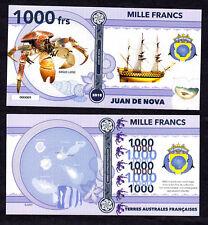 ILE JUAN DE NOVA ● TAAF / COLONIE ● BILLET POLYMER 1000 FRANCS ★ N.SERIE 000009