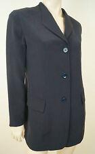 DONNA KARAN NEW YORK Black 100% Silk Formal Evening Blazer Jacket UK12 IT42