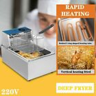 2500W 10L Electric Deep Fryer Stainless Steel Dual Tank Home Countertop 10.56QT photo