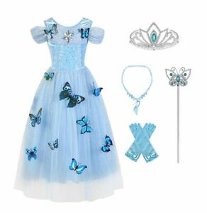 CLEARANCE SALE!! Girls Fancy Cinderella Ball Gown Butterfly Dressing Up Costume