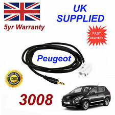 Peugeot 3008 AUX 3.5mm Input Audio cable model year 2004 onwards CD Quality